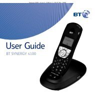 BT Synergy 4100 User Guide - UkCordless