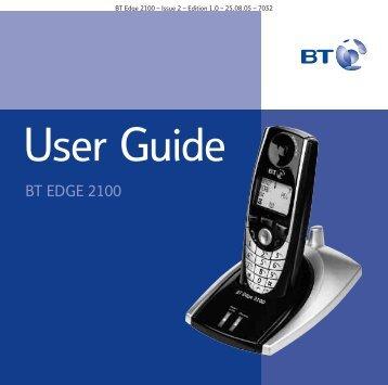 BT Edge 2100 User Guide - UkCordless