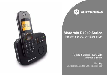 Motorola D10 User Guide - UkCordless