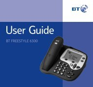 BT Freestyle 6300 User Guide - UkCordless