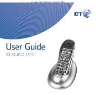 BT Studio 2300 User Guide - UkCordless