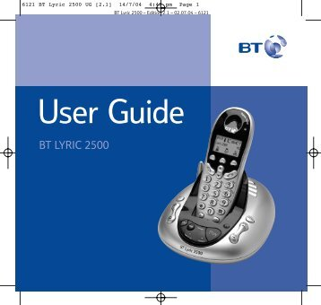 BT Lyric 2500 User Guide - UkCordless