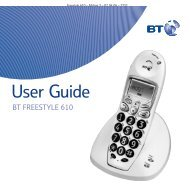 BT Freestyle 610 User Guide - UkCordless