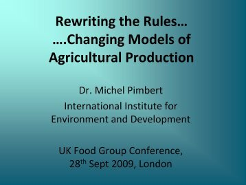 Rewriting the rules for changing models of ... - UK Food Group