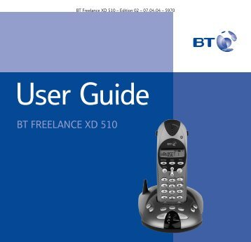 BT Freelance XD510 User Guide - UkCordless