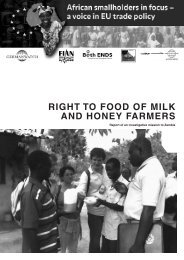 Right to Food oF Milk and honey FaRMeRs - UK Food Group