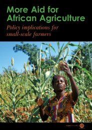 More Aid for African Agriculture EVIDENCE - UK Food Group