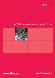The WTO Agreement on Agriculture - ActionAid