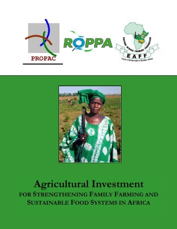 Agricultural Investment FOR STRENGTHENING ... - Europafrica