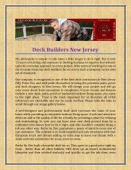 Deck Builders New Jersey
