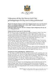 Välkommen till Bro Hof Slott & Golf Club, golfanläggningen för Dig ...
