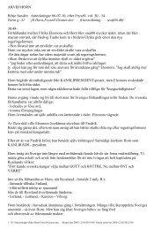 ARVID HORN Börje Sandén Anteckningar 86-07-10. efter Fryxell vol ...