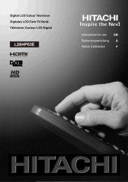 Hitachi L26HP03E (TV manual)