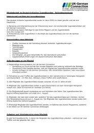 Mitgliedschaft im deutsch-britischen Jugendkomitee ... - The Voyage