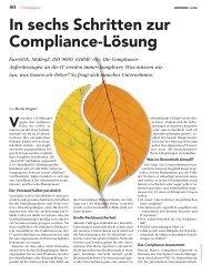 Artikel: In sechs schritten zur compliance lösung - migration-center