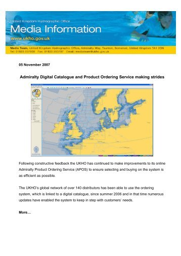 Admiralty Digital Catalogue and Product Ordering Service making ...