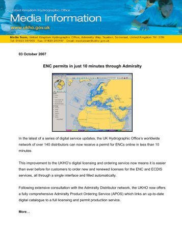 ENC permits in just 10 minutes through Admiralty - United Kingdom ...