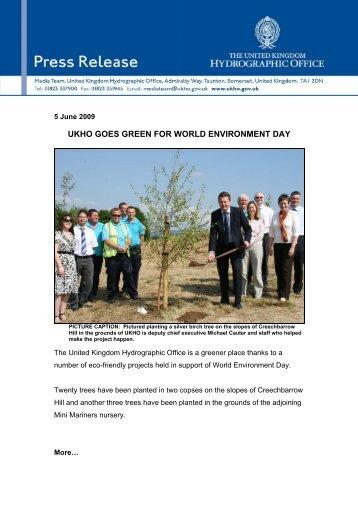ukho goes green for world environment day - United Kingdom ...