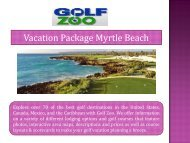 Vacation Package Myrtle Beach