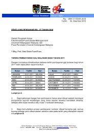 Pekeliling Bendahari Terbaru Bil 27/2010 Mengenai TARIKH ...