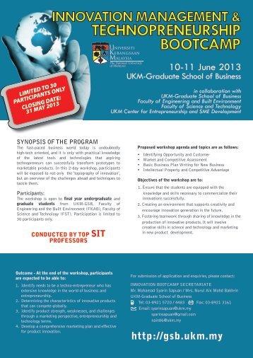 technopreneurship bootcamp - Universiti Kebangsaan Malaysia