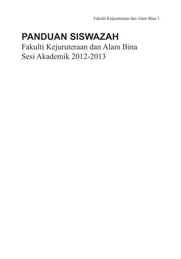 Buku Panduan Siswazah 2012/13 - Universiti Kebangsaan Malaysia