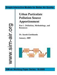 Source Appotionment for Better Air Quality