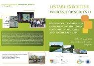 lestari executive workshop series ii - Universiti Kebangsaan Malaysia