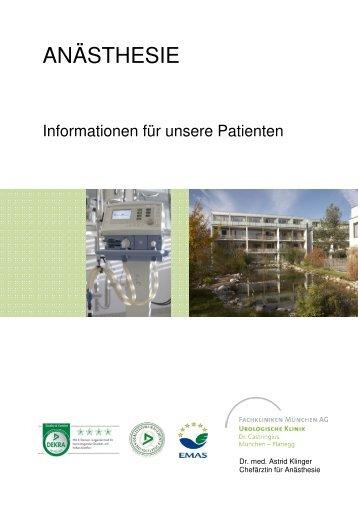 ANÄSTHESIE - Urologische Klinik Dr. Castringius, München-Planegg