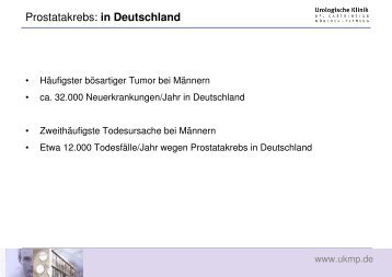 Prostatakrebs: in Deutschland - Urologische Klinik Dr. Castringius ...