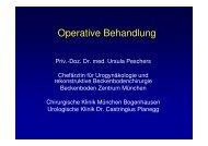 Operative Behandlung der Inkontinenz - Urologische Klinik Dr ...