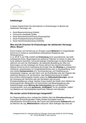 Infektiologie - Urologische Klinik Dr. Castringius, München-Planegg