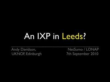 Presentation slides (PDF) - IXLeeds