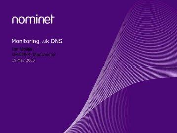 Monitoring .uk DNS - UK Network Operators' Forum