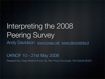 Peering Survey