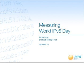 Measuring World IPv6 Day