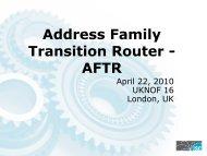AFTR - UK Network Operators' Forum