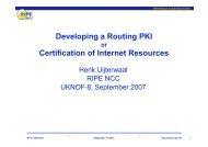 CertProto RPKI Project - UK Network Operators' Forum