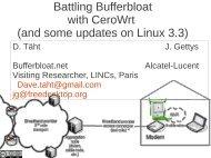 Battling Bufferbloat with CeroWrt - UK Network Operators' Forum