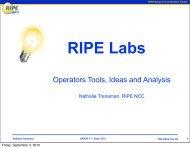 RIPE Labs update - UK Network Operators' Forum