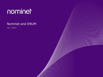 Nominet and ENUM