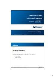 IPv6 Transition Technologies - UK Network Operators' Forum