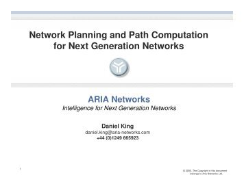 Network Planning and Path Computation for Next Generation ...