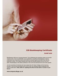 ICB Bookkeeping Certificate Level one - UK Open College