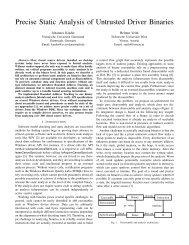 Precise Static Analysis of Untrusted Driver Binaries - Infoscience