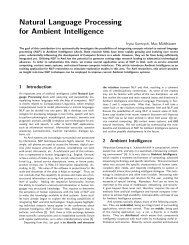 Natural Language Processing for Ambient Intelligence - UKP