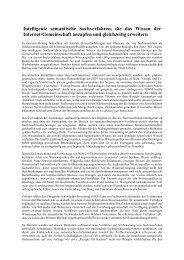 Intelligente semantische Suchverfahren, die das Wissen der ... - UKP