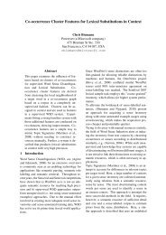 Co-occurrence Cluster Features for Lexical Substitutions in ... - UKP