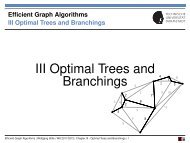 Chapter 3: Optimal Trees and Branchings - UKP