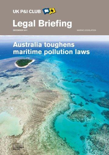 Legal Briefing Australia Maritim Pollution Laws - UK P&I